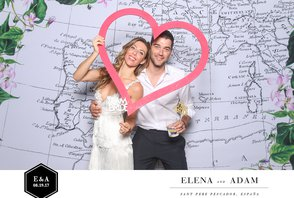 Elena & Adam (Photos with the graphic design)