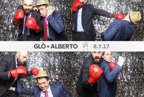 Glò i Alberto (fotos con la gráfica)