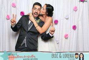 Lorena y Eric (fotos con la gráfica)